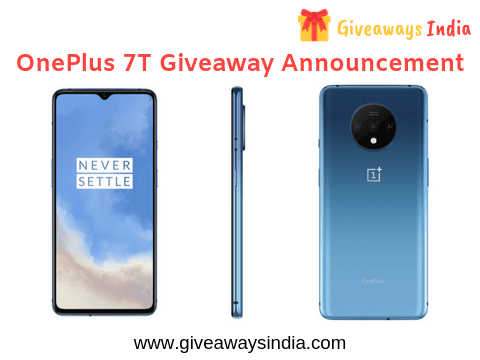 oneplus 7t giveaway india