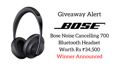 Bose headset giveaway