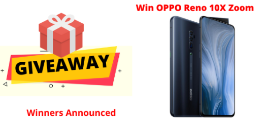 OPPO Reno 10x Zoom giveaway