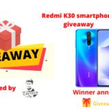 Redmi K30 smartphone giveaway