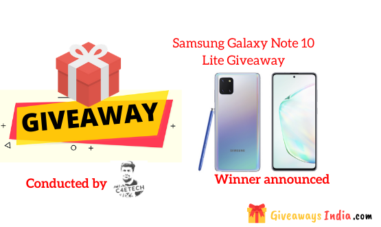 Samsung Galaxy Note 10 Lite Giveaway