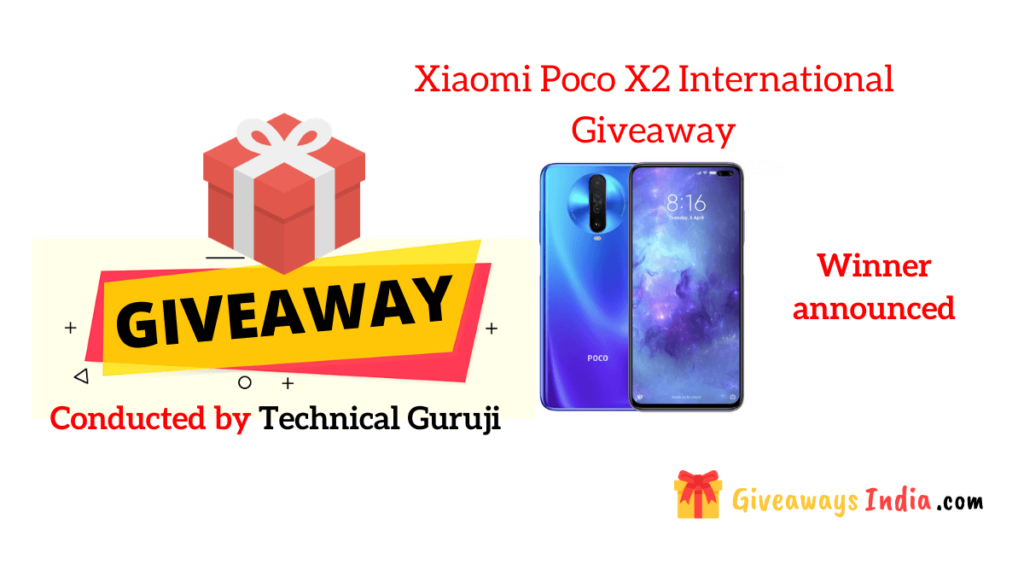Xiaomi Poco X2 International Giveaway