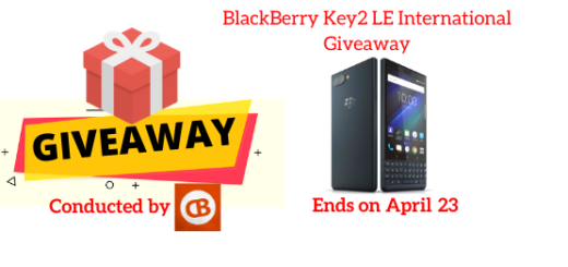 BlackBerry Key2 LE International Giveaway