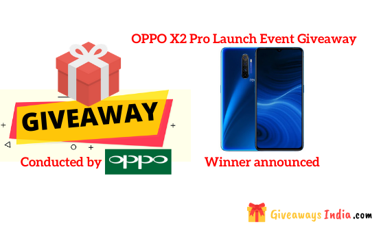 OPPO X2 Pro Launch Event Giveaway