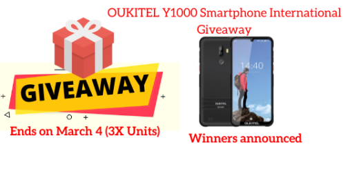 OUKITEL Y1000 Smartphone International Giveaway