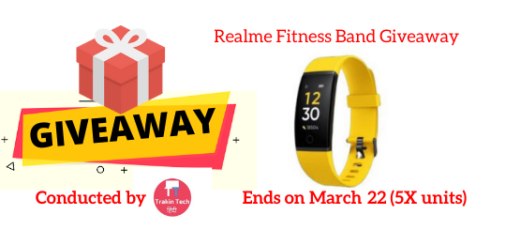 Realme Fitness Band Giveaway