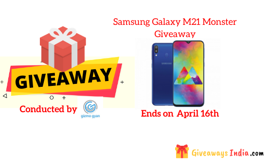 Samsung Galaxy M21 Monster Giveaway