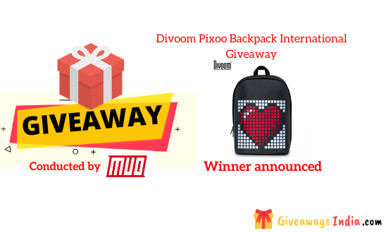 Divoom Pixoo Backpack International Giveaway