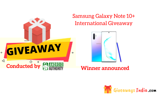 Samsung Galaxy Note 10+ International Giveaway
