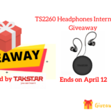 TS2260 Headphones International Giveaway
