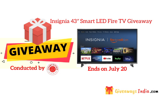 Insignia 43″ Smart LED Fire TV Giveaway