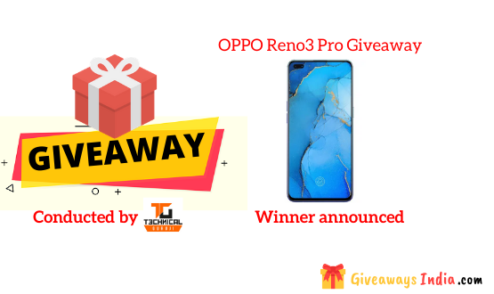 OPPO Reno3 Pro Giveaway