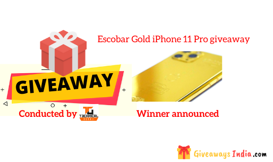 Escobar Gold iPhone 11 Pro giveaway