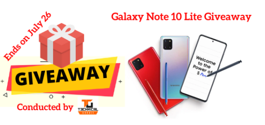 Galaxy Note 10 Lite Giveaway