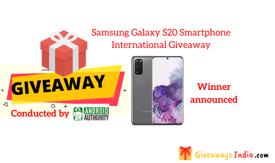 Samsung Galaxy S20 Smartphone International Giveaway