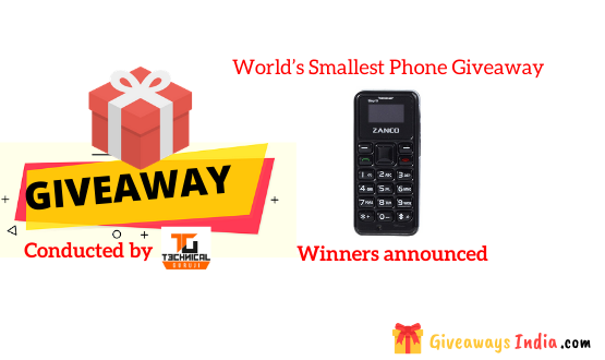 World's Smallest Phone Giveaway