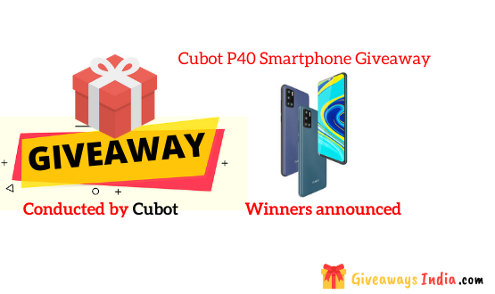 Cubot P40 Smartphone Giveaway