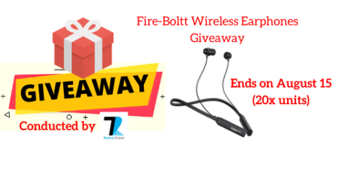 Fire-Boltt Wireless Earphones Giveaway