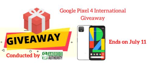 Google Pixel 4 International Giveaway