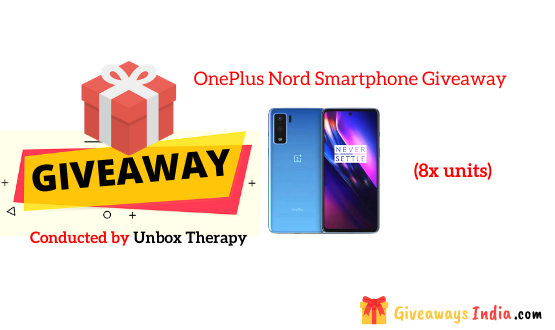 OnePlus Nord Smartphone Giveaway