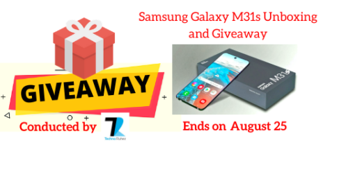 Samsung Galaxy M31s Unboxing and Giveaway