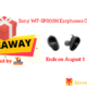 Sony WF-SP800N Earphones Giveaway
