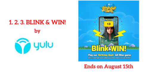 1. 2. 3. BLINK & WIN Contest
