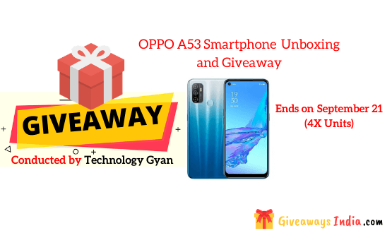 OPPO A53 SmartphoneUnboxing and Giveaway