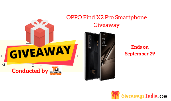 OPPO Find X2 Pro Smartphone Giveaway