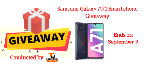 Samsung Galaxy A71 Smartphone Giveaway