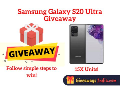 Samsung Galaxy S20 Ultra Giveaway