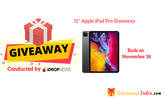11″ Apple iPad Pro Giveaway