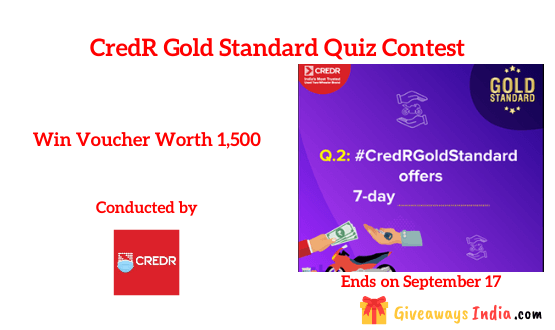 CredR Gold Standard Contest