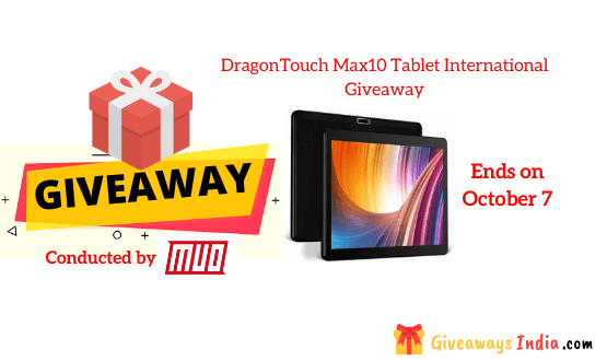 DragonTouch Max10 Tablet International Giveaway