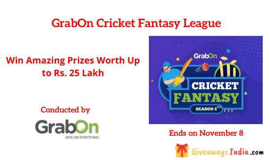 GrabOn Cricket Fantasy League