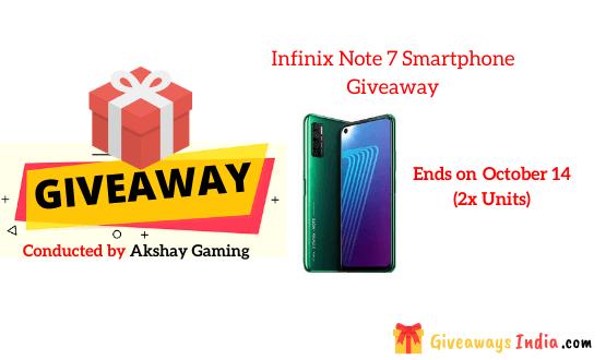 Infinix Note 7 Smartphone Giveaway