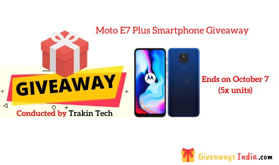 Moto E7 Plus Smartphone Giveaway