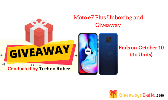 Moto e7 Plus Unboxing and Giveaway