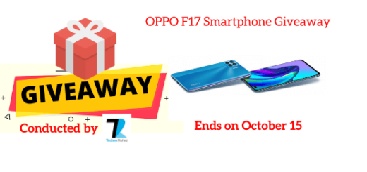 OPPO F17 Mobile giveaway