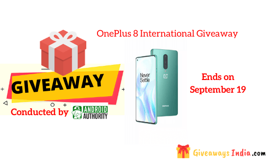 OnePlus 8 International Giveaway