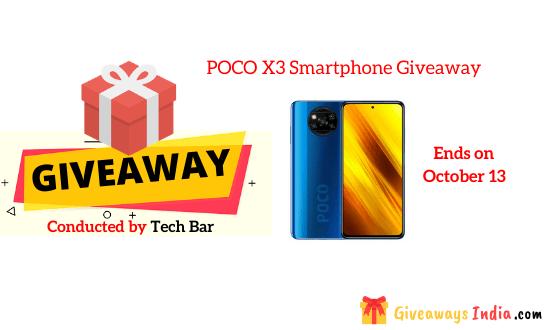 POCO X3 Smartphone Giveaway