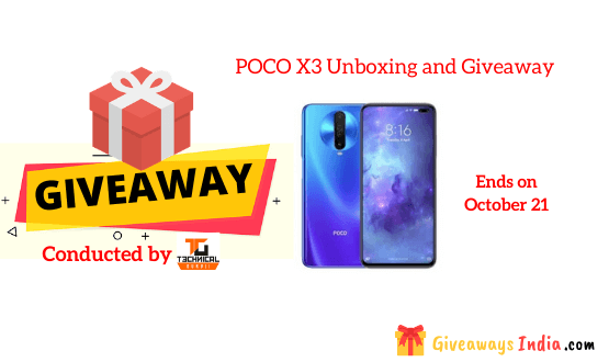 POCO X3 Unboxing and Giveaway