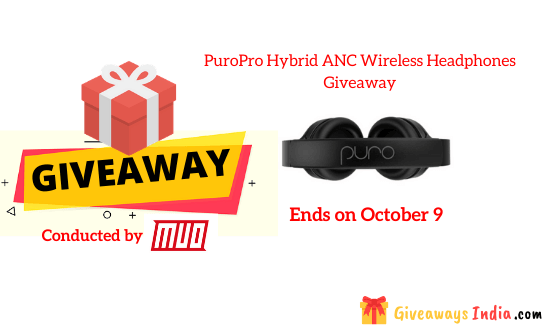 PuroPro Hybrid ANC Wireless Headphones Giveaway