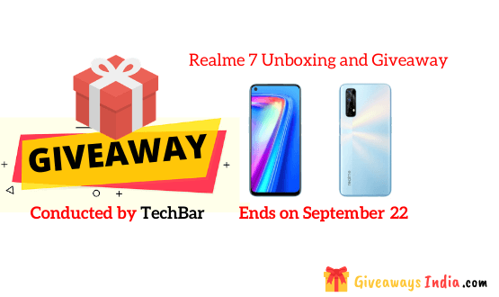 Realme 7 Unboxing and Giveaway