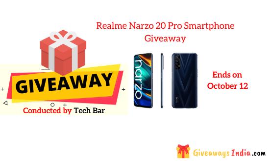 Realme Narzo 20 Pro Smartphone Giveaway