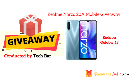 Realme Narzo 20A Mobile Giveaway