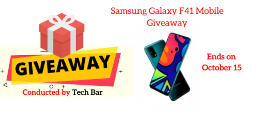 Samsung Galaxy F41 Mobile Giveaway