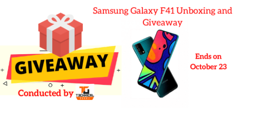 Samsung Galaxy F41 Unboxing and Giveaway