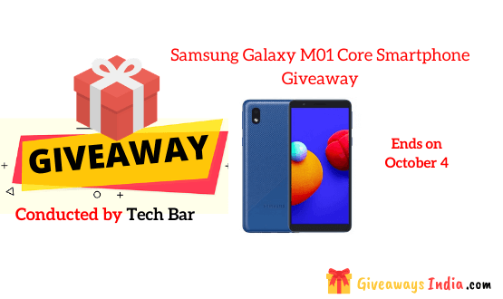 Samsung Galaxy M01 Core Smartphone Giveaway