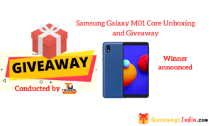 Samsung Galaxy M01 Core Unboxing and Giveaway